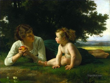 Temptation 1880 Realism William Adolphe Bouguereau Oil Paintings