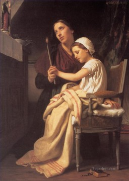 William Adolphe Bouguereau Painting - The Thank Offering Realism William Adolphe Bouguereau