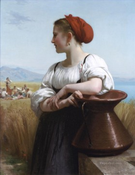 William Adolphe Bouguereau Painting - Moissoneuse Realism William Adolphe Bouguereau