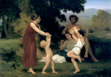 The Pastoral Recreation 1868 William Adolphe Bouguereau Oil Paintings