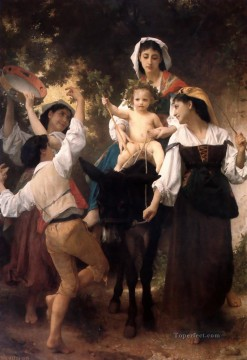 Return Art - The Return from the Harvest Realism William Adolphe Bouguereau