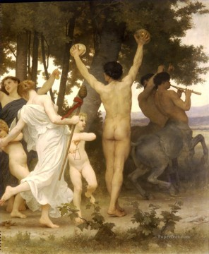 La jeunesse de Bacchus right dt William Adolphe Bouguereau Oil Paintings