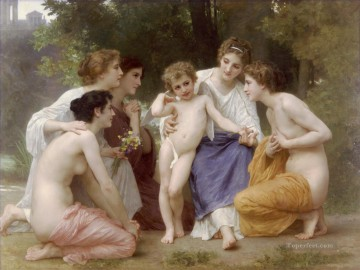 William Adolphe Bouguereau Painting - Ladmiration William Adolphe Bouguereau