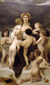 William Adolphe Bouguereau Painting - Alma Parens William Adolphe Bouguereau