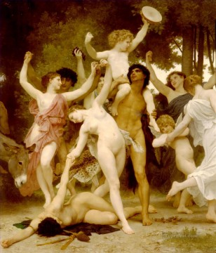 William Adolphe Bouguereau Painting - La jeunesse de Bacchus centre dt William Adolphe Bouguereau
