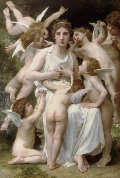 William Adolphe Bouguereau Painting - Lassaut angel William Adolphe Bouguereau