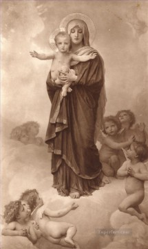 NotreDame Des Anges Realism William Adolphe Bouguereau Oil Paintings