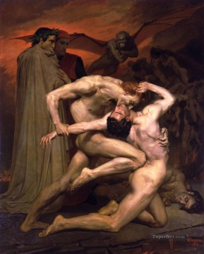 William Adolphe Bouguereau Painting - Will8iam Dante et Virgile au Enfers William Adolphe Bouguereau