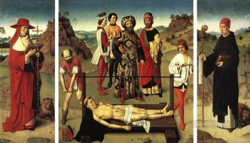 Martyrdom Of St Erasmus Triptych Netherlandish Dirk Bouts Oil Paintings