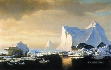 William Canvas - Icebergs in the Arctic William Bradford 1882 seascape William Bradford