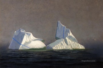 Sea Painting - Icebergs seascape William Bradford