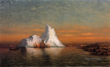 William Bradford Painting - Fishing Fleet off Labrador William Bradford