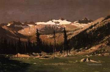 Yosemite Art - Mount Lyell above Yosemite seascape William Bradford