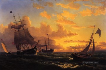 Fresh Breeze of Sandy Hook William Bradford Oil Paintings