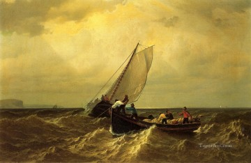 William Bradford Painting - Fishing Boats on the Bay of Fundy William Bradford