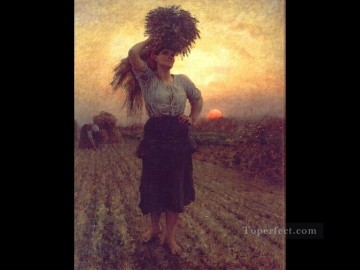 on - Harvesters countryside Realist Jules Breton