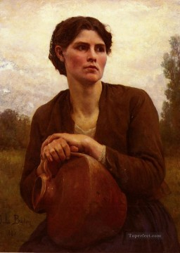 Jules Breton Painting - The Water Carrier countryside Realist Jules Breton