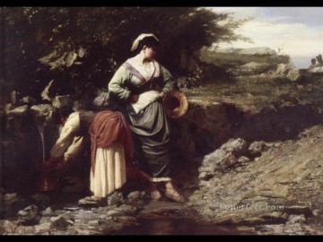 Jules Breton Painting - Water Carriers countryside Realist Jules Breton
