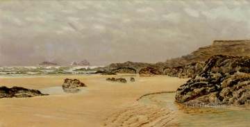 on - A view Of Treyarnon Bay landscape Brett John