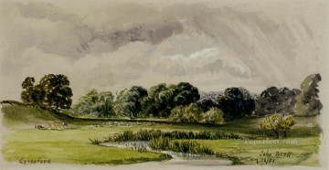 Eynesford landscape Brett John Oil Paintings