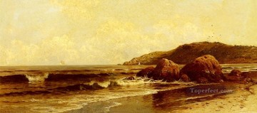 Alfred Thompson Bricher Painting - Breaking Surf beachside Alfred Thompson Bricher