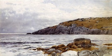 Coast Painting - Rocky Coastline beachside Alfred Thompson Bricher