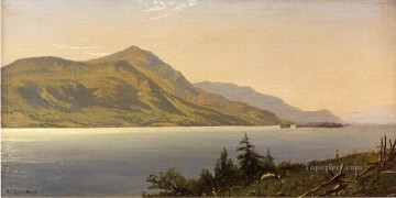 Alfred Thompson Bricher Painting - Tontue Mountain Lake George aka Tongue Mountain Lake George beachside Alfred Thompson Bricher