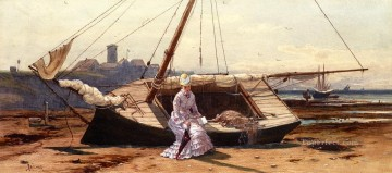 A Pensive Moment beachside Alfred Thompson Bricher Oil Paintings