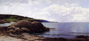 Bailys Island Maine beachside Alfred Thompson Bricher Oil Paintings