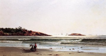 Indian Rock Narragansett Bay beachside Alfred Thompson Bricher Oil Paintings