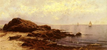 Low Tide Baileys Island Maine beachside Alfred Thompson Bricher Oil Paintings