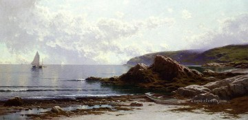 Coast Painting - Sailing off the Coast beachside Alfred Thompson Bricher