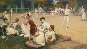 LAWN TENNIS CLUB Frederick Arthur Bridgman Oil Paintings