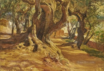 TREE TRUNK Frederick Arthur Bridgman Oil Paintings