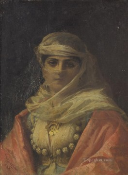 Frederick Arthur Bridgman Painting - A TURKISH BEAUTY Frederick Arthur Bridgman