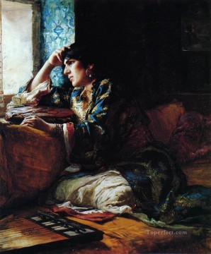 Aicha a Woman of Morocco Frederick Arthur Bridgman Oil Paintings