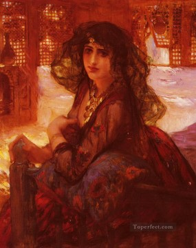 Harem Girl Frederick Arthur Bridgman Oil Paintings