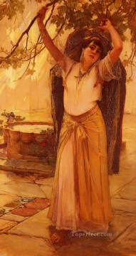 Spanish Lady Frederick Arthur Bridgman Oil Paintings