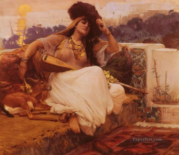 LIndolence Frederick Arthur Bridgman Oil Paintings