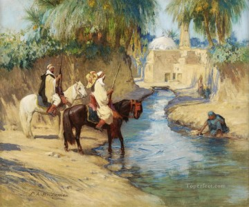 Frederick Arthur Bridgman Painting - RETURN FROM THE HUNT Frederick Arthur Bridgman