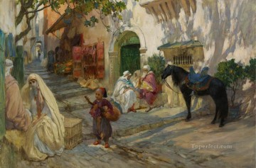 A Street in Algeria Frederick Arthur Bridgman Oil Paintings