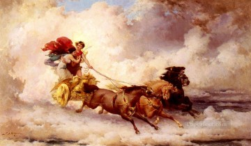 Apollon Enlevant Cyrene Frederick Arthur Bridgman Oil Paintings