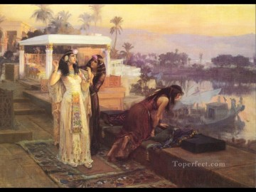 1896 Oil Painting - Cleopatra on the terraces of Philae 1896 Frederick Arthur Bridgman