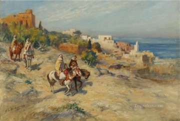 HORSEMEN IN ALGIERS Frederick Arthur Bridgman Oil Paintings