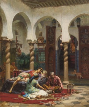 Frederick Arthur Bridgman Painting - IDLE MOMENTS Frederick Arthur Bridgman