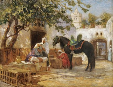 THE BARBER Frederick Arthur Bridgman Oil Paintings