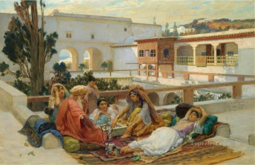 AN AFTERNOONS AMUSEMENT Frederick Arthur Bridgman Oil Paintings