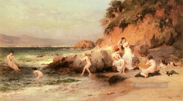 Frederick Arthur Bridgman Painting - The Bathing Beauties Frederick Arthur Bridgman