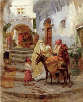Frederick Arthur Bridgman Painting - The Orange Seller Frederick Arthur Bridgman