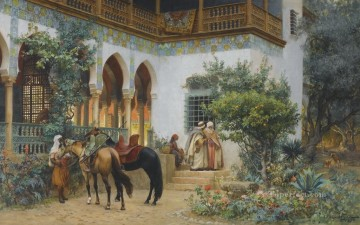 A NORTH AFRICAN COURTYARD Frederick Arthur Bridgman Oil Paintings